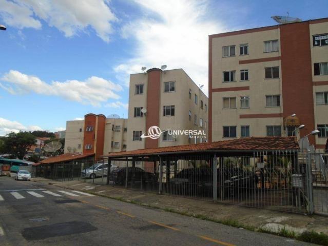 Apartamento com 3 quartos para alugar, 61 m² por R$ 1.200/mês - Cascatinha - Juiz de Fora/
