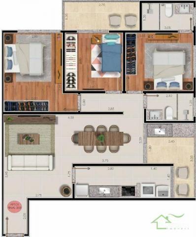 Apartamento com 3 dormitórios à venda por R$ 335.000,00 - Bairu - Juiz de Fora/MG - Foto 2