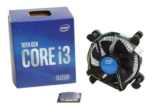 Processador Intel Core I3-10100 De 4 Núcleos E 3.6ghz