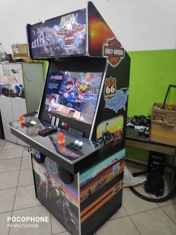 Fliperama Arcade 32polegadas com Karaoke novo tema Harley - Foto 4