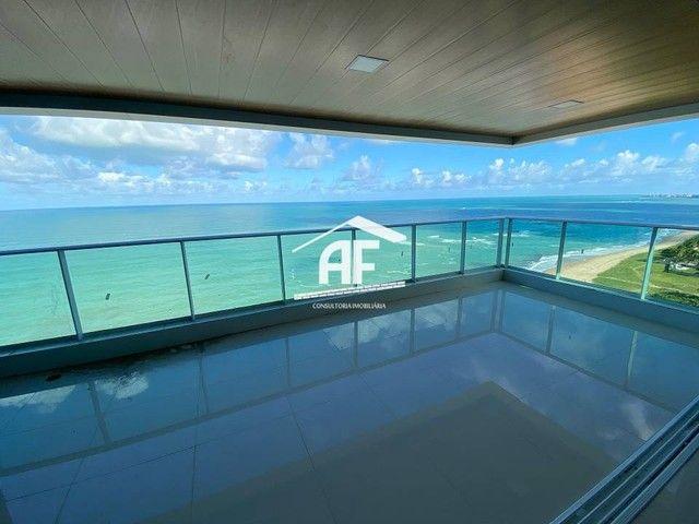 Cobertura nova com Vista total e ampla na beira mar da praia de guaxuma