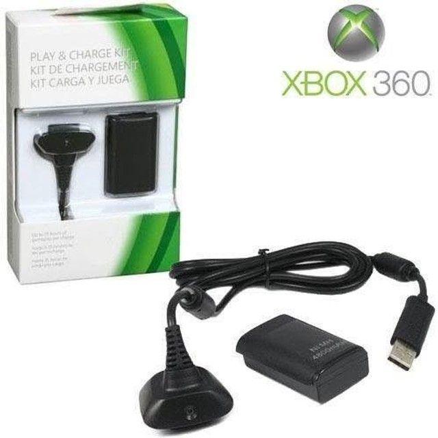 Kit bateria e carregador para controle de Xbox 360