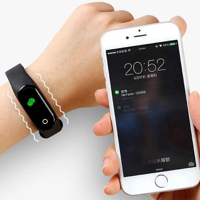 ?Promoção?Relógio Inteligente M4 Smartwatch Bluetooth/Coloca Foto - Foto 3
