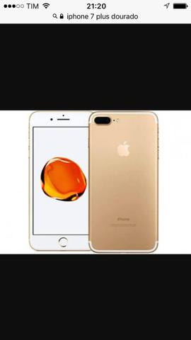 IPhone 7 Plus dourado 32 GB lacrado