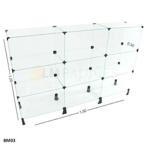 Balcao de vidro em oferta 1,50 x1 ,00 x 0,30 frete gratis SP