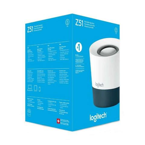 Caixa de Som Logitech Z51 Branco/Cinza - Loja Fgtec Informática - Foto 2