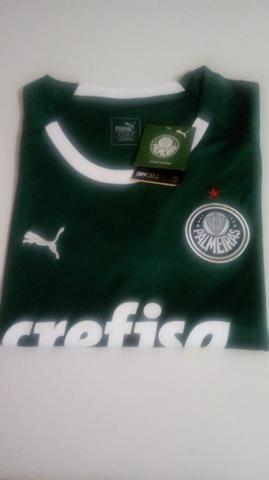 8e38eb69c3d70 Promoção Camisa Palmeiras Puma Feminina Uniforme 1 2019 Tamanho M Pronta  Entrega