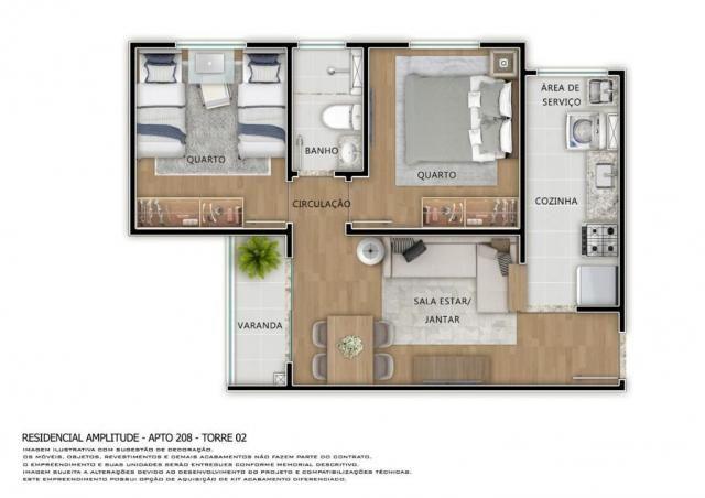 Residencial Amplitude Aptos 38,80 a 48,36m3 1 e 2 Dorms,Sala,Cozinha,Banheiro,com opção de - Foto 14