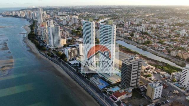 Apartamento com 04 quartos, 03 suítes e lazer fantástico a beira mar de Olinda - Foto 3