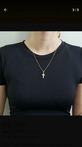 Lindo colar Garagantilha banhada a ouro 18k  - Foto 3