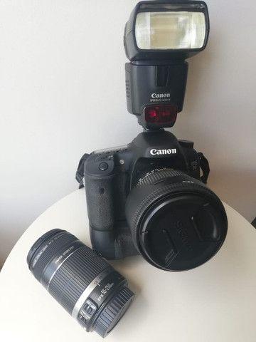 Kit Câmera Dslr Canon EOS 7D e acessórios - Foto 2