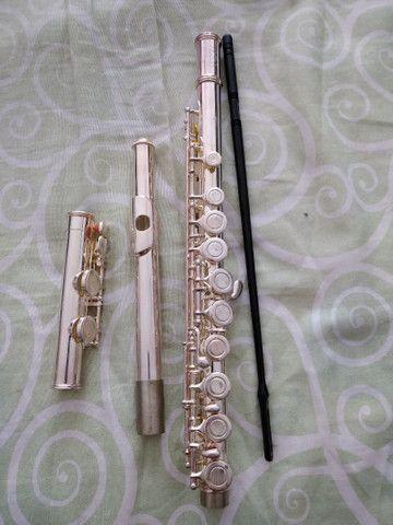 Flauta transversal Conservada pouquíssimo usada - Foto 5