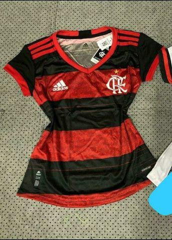 Camisa Flamengo Adulto Infantil Feminina e Vestido - Foto 3