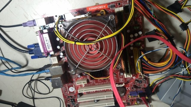kit placa mãe amd + processador + 3 gb ddr2 - 313