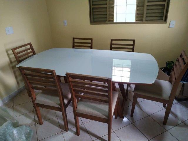 Mesa de madeira toda pronta entrega  - Foto 4