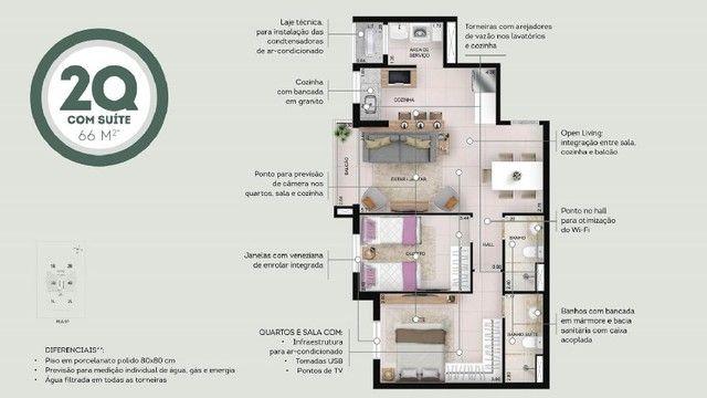 360 Oeste EBM - Apartamento 2 Quartos com Suíte - Setor Oeste Goiânia - Foto 6