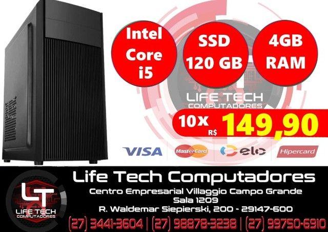 Computador Intel Core i5   Mem 4GB  SSD 120GB   NOVO  Garantia 1 ano