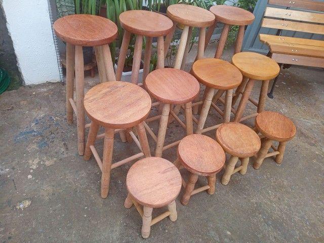 Mega Oferta de Banquinhos de madeira maciça! Imperdível! A partir de R$35,00 cada - Foto 3