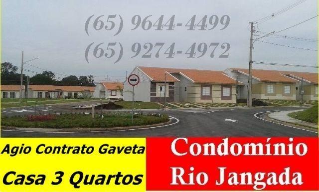 Condomínio Rio Jangada casa 03 quartos, Ágio R 83.000 Mil