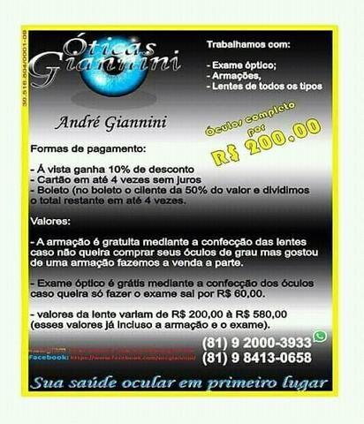 048212df4 Óticas Giannini - Serviços - Moreno 595342886   OLX