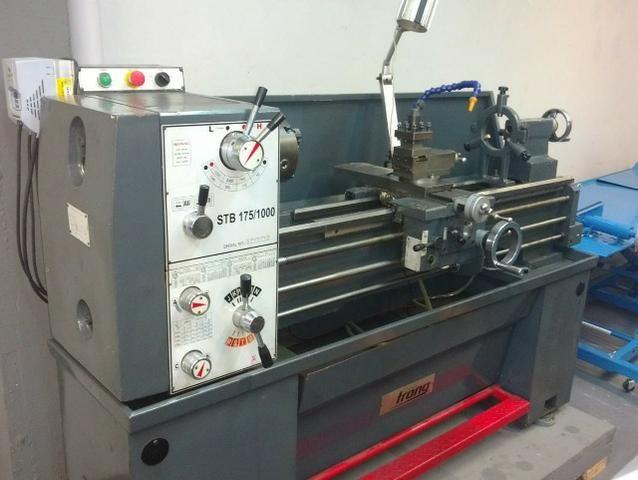 Torno mecanico stb175/1000 strog usado com inversor de frequência. 220v monofásico