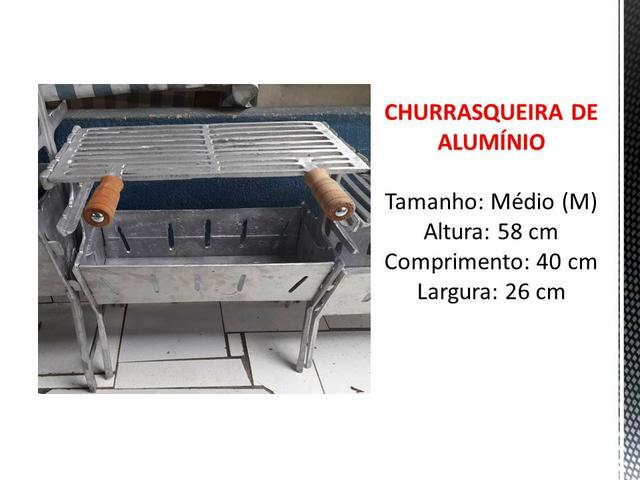 CHURRASQUEIRA MÉDIA alumínio