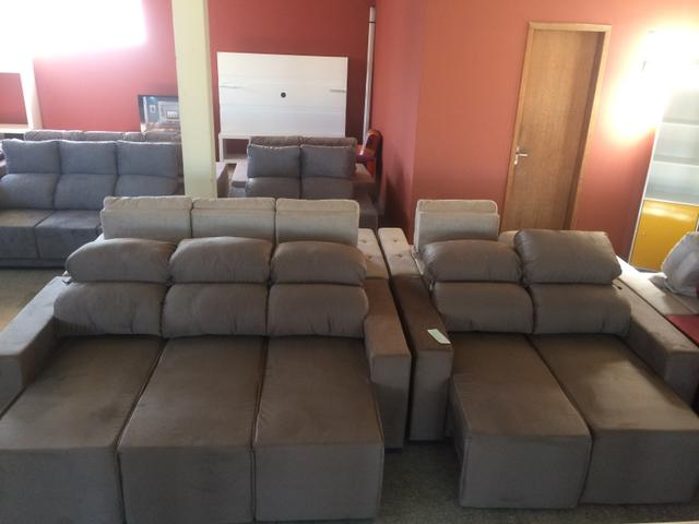 Sofá conjunto 3 e 2 lugares retratil e reclinável - Foto 2