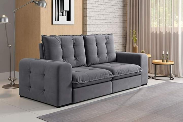 Sofa retratil e reclinavel fofissimo KAL717 - Foto 2