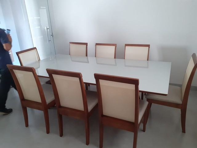 Mesa 8 de madeira maciça pronta entrega  - Foto 2