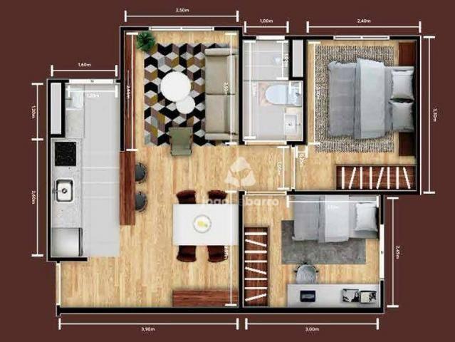Apartamento com 2 dormitórios à venda, 46 m² por R$ 159.990 - Tijuca - Campo Grande/MS - Foto 17