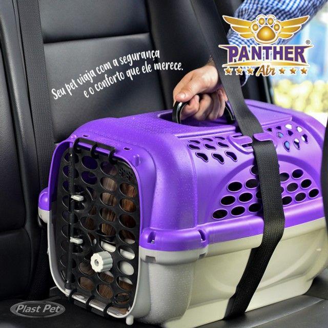 Caixa de Transporte Panther Pop Plast Pet N 3 na cor (Vermelha)