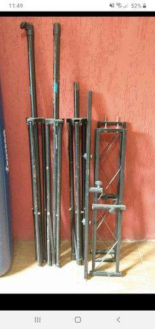 Treliças para Dj goleira galvanizada pedestal  - Foto 2