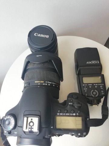 Kit Câmera Dslr Canon EOS 7D e acessórios - Foto 6
