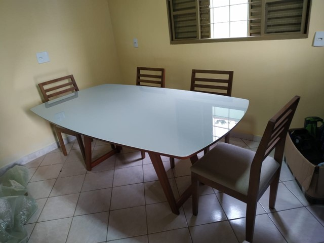 Mesa de madeira toda pronta entrega  - Foto 2
