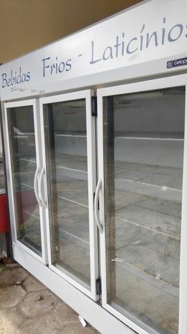 Refrigerador geladeira gelopar 3 portas laticinios funcionando perfeitamente 220v