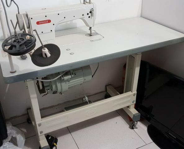 Maquina De Costura Reta Plana Eletronica Industrial Bruce