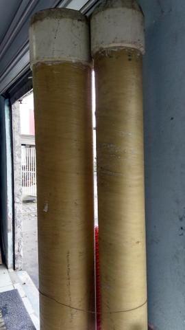 Tubo de fibra de 6''