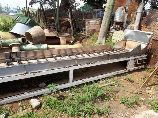 Esteira transportadora em inox e ferro usada