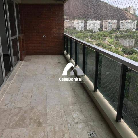 Apartamento com 3 dormitórios à venda, 160 m² - lagoa - rio de janeiro/rj - Foto 4