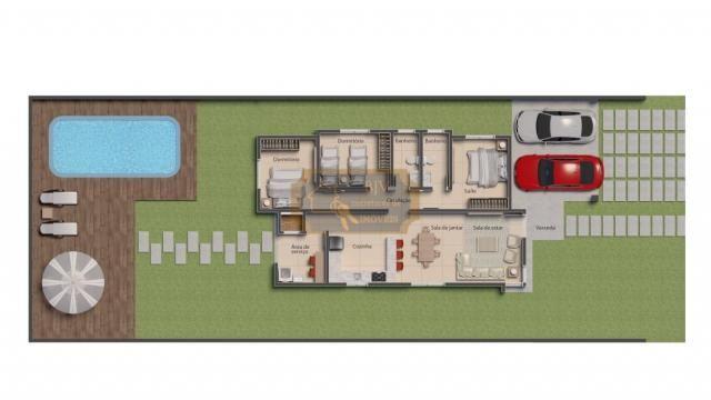 Casa alto padrão, 3dorm c/ suíte, churrasqueira e piscina. - Foto 2
