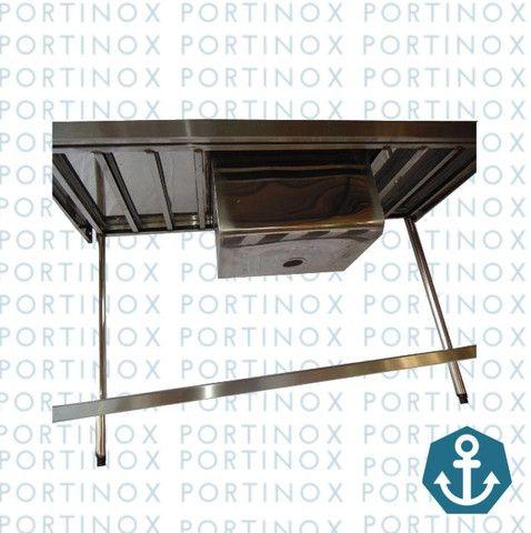 Pia inox 130x060 com prateleira gradeada 1 cuba tanque - Foto 2