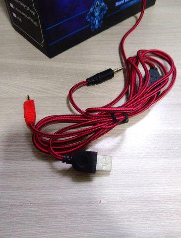 Fone Ouvido Headset Gamer vermelho - Foto 3