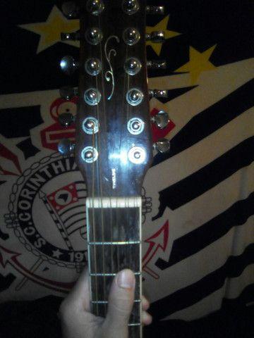 Violão doze cordas com capa - Foto 3