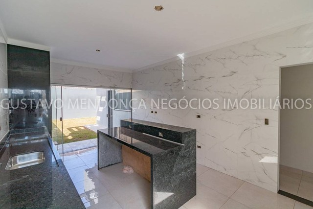 Belíssima casa térrea nova no bairro Rita Vieira 1-  Com duas suites - Foto 4