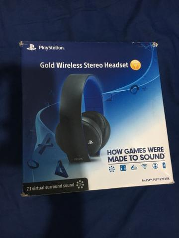 Headset Sony Gold 7.1