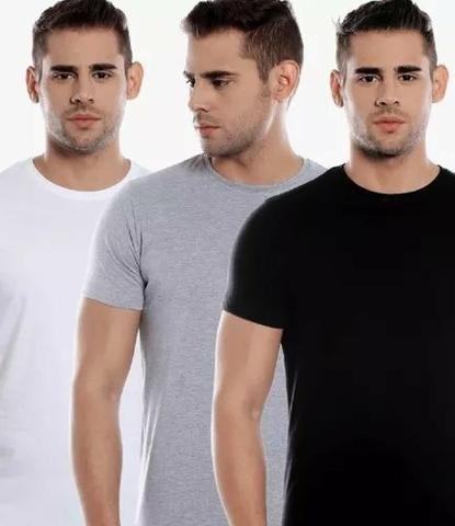 Kit 3 Camisas Slim Fit Masculina