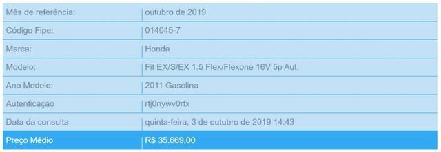 Honda Fit EX 1.5 16V Flex 2010/11 Automático - Foto 18