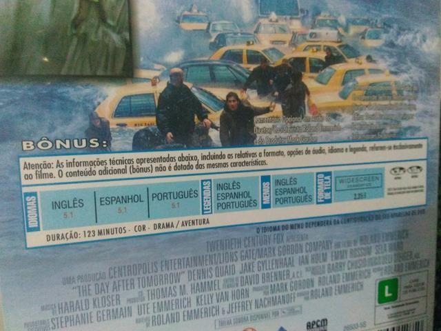 Filme dvd o dia depois de amanhã - Foto 2
