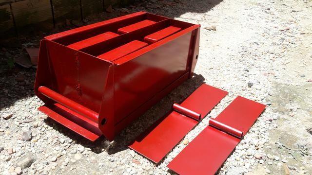 Formas para blocos de concreto.