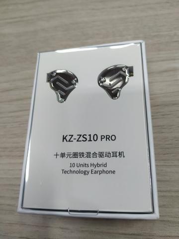 Fone KZ ZS10 pro - Som perfeito, retorno de palco, bateria, baixo, sanfona, guitarra - Foto 3